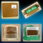 Canvases packed and shipped with the best materials